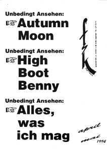 Autumn Moon·High Boot Benny·Alles was ich mag·Pinoccio v‾964