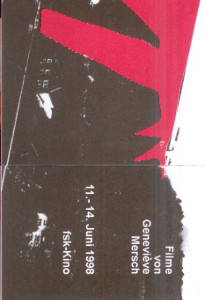 ~-Flyer Filme von Genevieve Mersch